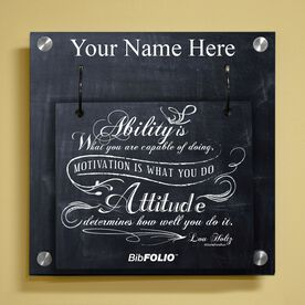Personalized Chalkboard Ability Is What You Are Capable Of Doing Wall BibFOLIO® Display