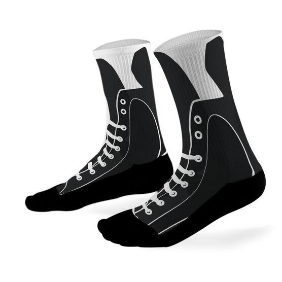 Hockey Printed Mid Calf Socks Hockey Skate