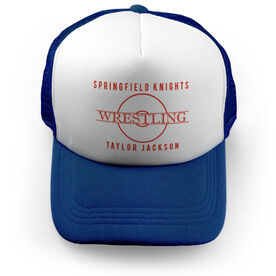Wrestling Trucker Hat - Personalized Crest