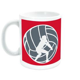 Volleyball Ceramic Mug Player Silhouette