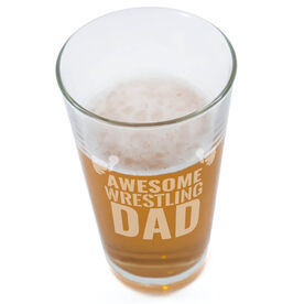 20 oz. Beer Pint Glass Awesome Wrestling Dad