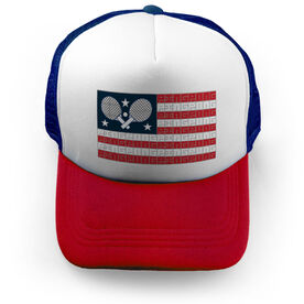 Ping Pong Trucker Hat - American Flag Words