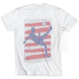 Vintage Soccer T-Shirt - USA Soccer Kick