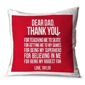 Hockey Throw Pillow Dear Dad Hockey