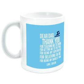 Swimming Ceramic Mug Dear Dad