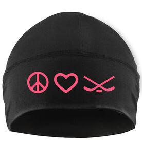 Beanie Performance Hat - Peace Love Hockey
