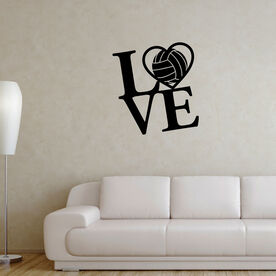 Volleyball Wall Decal Love Volleyball