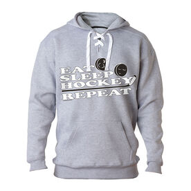 For Hockey Players Only Sweatshirt - Eat Sleep Hockey Repeat