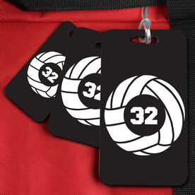 VolleyBall Bag/Luggage Tag Volleyball Team Number