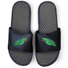 Fly Fishing Navy Slide Sandals - Deceiver