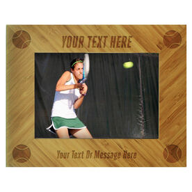 Tennis Bamboo Engraved Picture Frame Your Text