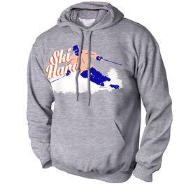 Skiing Standard Sweatshirt Ski Hard
