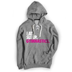Gymnastics Sport Lace Sweatshirt Eat. Sleep. Gymnastics.