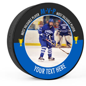 Personalized MVP with Photo Hockey Puck