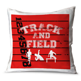 Track and Field Throw Pillow Track Track and Field Silos