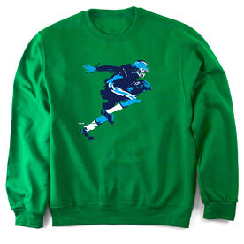 Football Crew Neck Sweatshirt In the Blur of A Moment