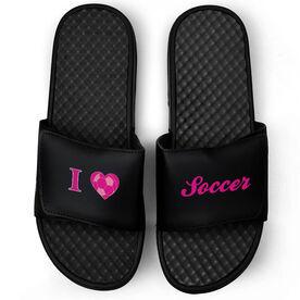 Soccer Black Slide Sandals - I Heart Soccer