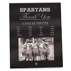Soccer Photo Frame Thank You Coach Roster