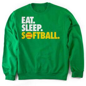 Softball Crew Neck Sweatshirt Eat. Sleep. Softball.