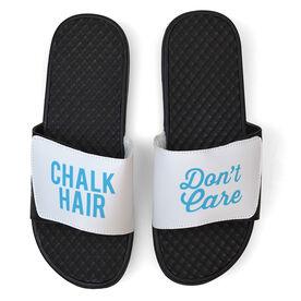 Gymnastics White Slide Sandals - Chalk Hair Don't Care