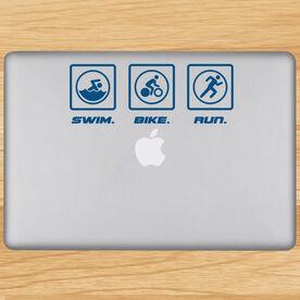 Swim Bike Run Removable TRIForeverGraphix Laptop Decal