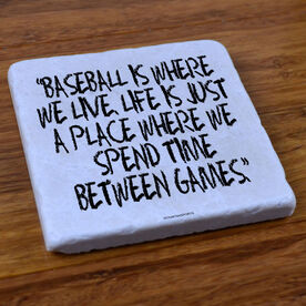 Baseball Where We Live - Stone Coaster