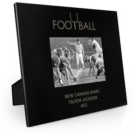 Football Engraved Picture Frame - Word