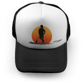 Guys Lacrosse Trucker Hat Latitude Sunset