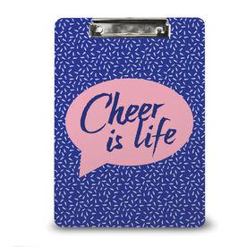 Cheerleading Custom Clipboard Cheer Is Life