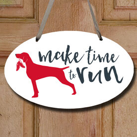 Make Time To Run Decorative Oval Sign