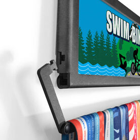 TriathletesWALL Swim Bike Run Country Medal Display