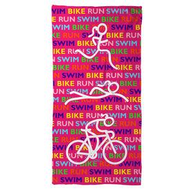 Running Beach Towel Triathlon Swim Bike Run Repeat Girls