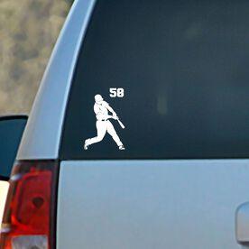 Baseball Vinyl Car Decal Personalized Batter