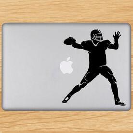 Football Quarterback Silhouette Removable ChalkTalkGraphix Laptop Decal