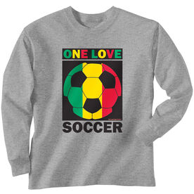 Soccer Tshirt Long Sleeve One Love Soccer