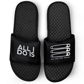 Wrestling Black Slide Sandals - ALL I DO IS PIN PIN PIN