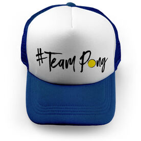 Ping Pong Trucker Hat - Hashtag Team Pong