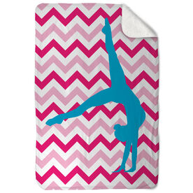 Gymnastics Sherpa Fleece Blanket Watch Me