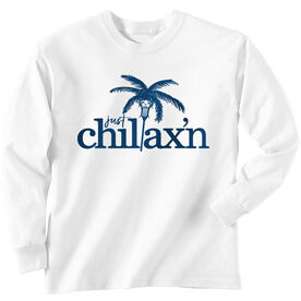 Lacrosse Long Sleeve T-Shirt - Just Chillax'n