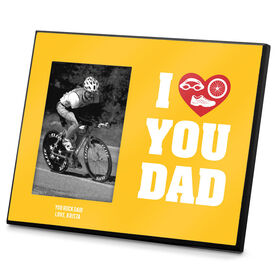 Triathlon Photo Frame I Heart You Dad TRI