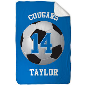 Soccer Sherpa Fleece Blanket Personalized Team
