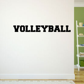Volleyball Written Out Removable ChalkTalkGraphix Wall Decal