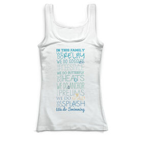 Swimming Vintage Fitted Tank Top - We Do Swimming