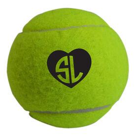 Personalized Heart Monogram Tennis Ball