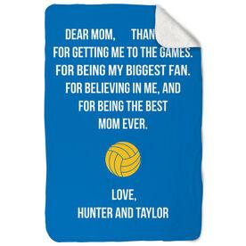 Volleyball Sherpa Fleece Blanket - Dear Mom Heart