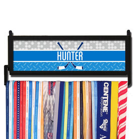 AthletesWALL Personalized 2 Tier Patterns with Crossed Sticks Medal Display
