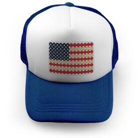 Baseball Trucker Hat - Flag