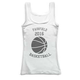 Basketball Vintage Fitted Tank Top - Ball With Team