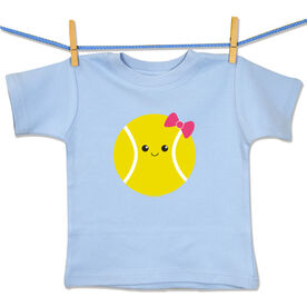 Tennis Baby T-Shirt Mini Tennis Ball Smile (Girl)