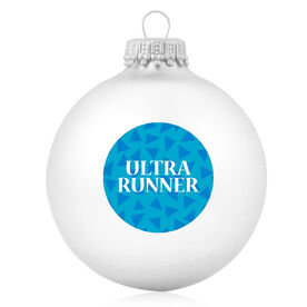 Running Glass Ornament Ultra Runner